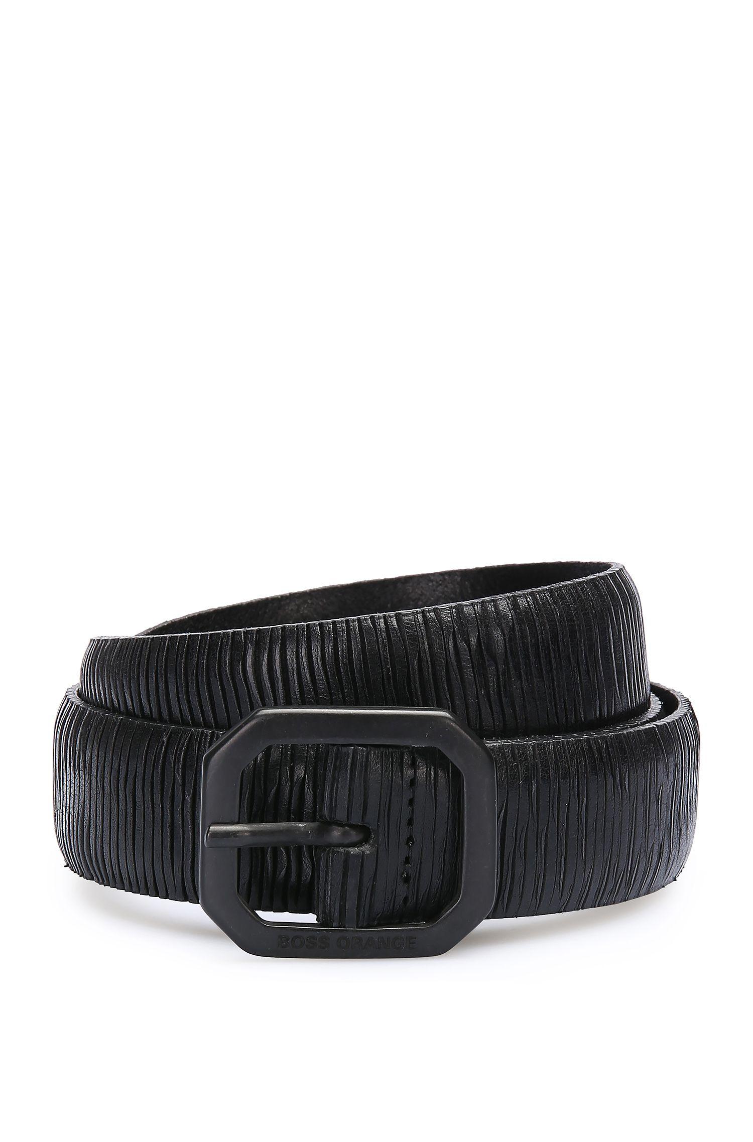 Handgefertigter Gürtel aus Leder mit Prägung: ´Julio_Sz30_ltem`