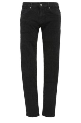 Skinny-fit jeans in a stretchy cotton blend: 'Orange72', Black