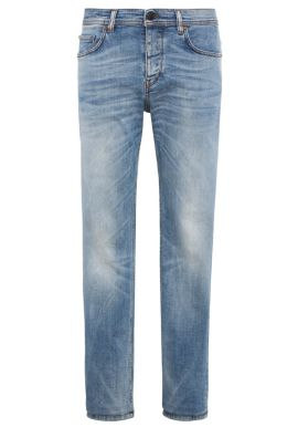 Tapered-fit jeans van stretchkatoen: 'Orange90', Turkoois