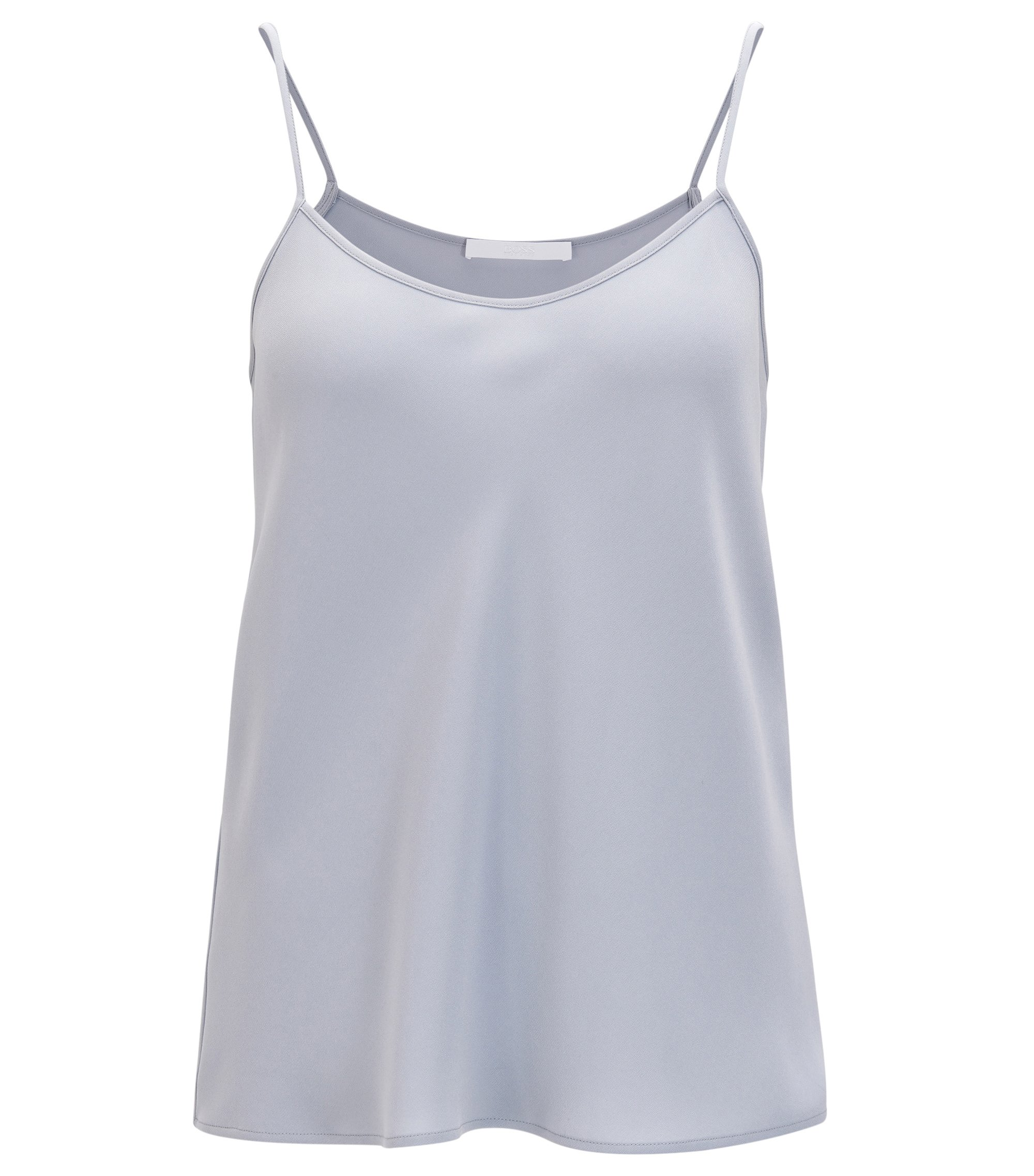Camisole with scoop neck, Grey