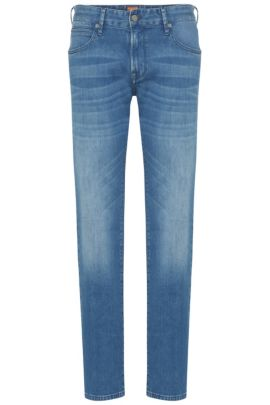 Regular-fit jeans made from stretch cotton in vintage look: 'Orange24 Barcelona', Blue