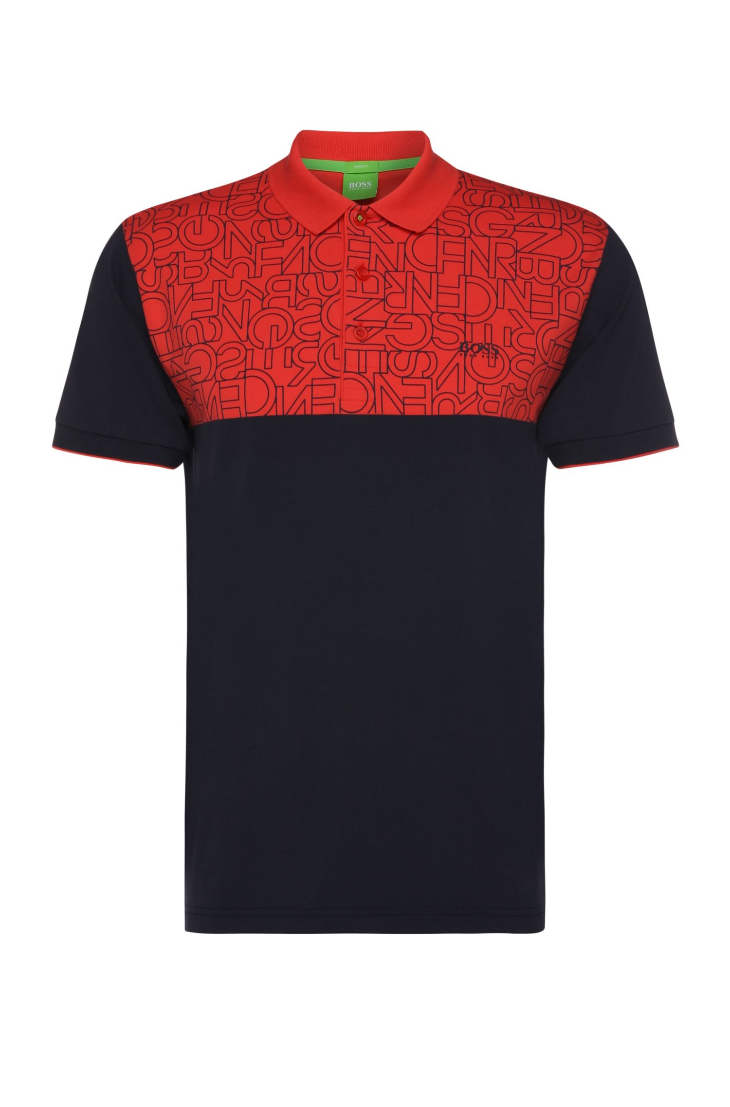 Slim-fit polo shirt in stretch cotton: 'Parsos'