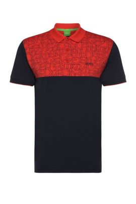 Polo Slim Fit en coton extensible : « Parsos », Rouge clair