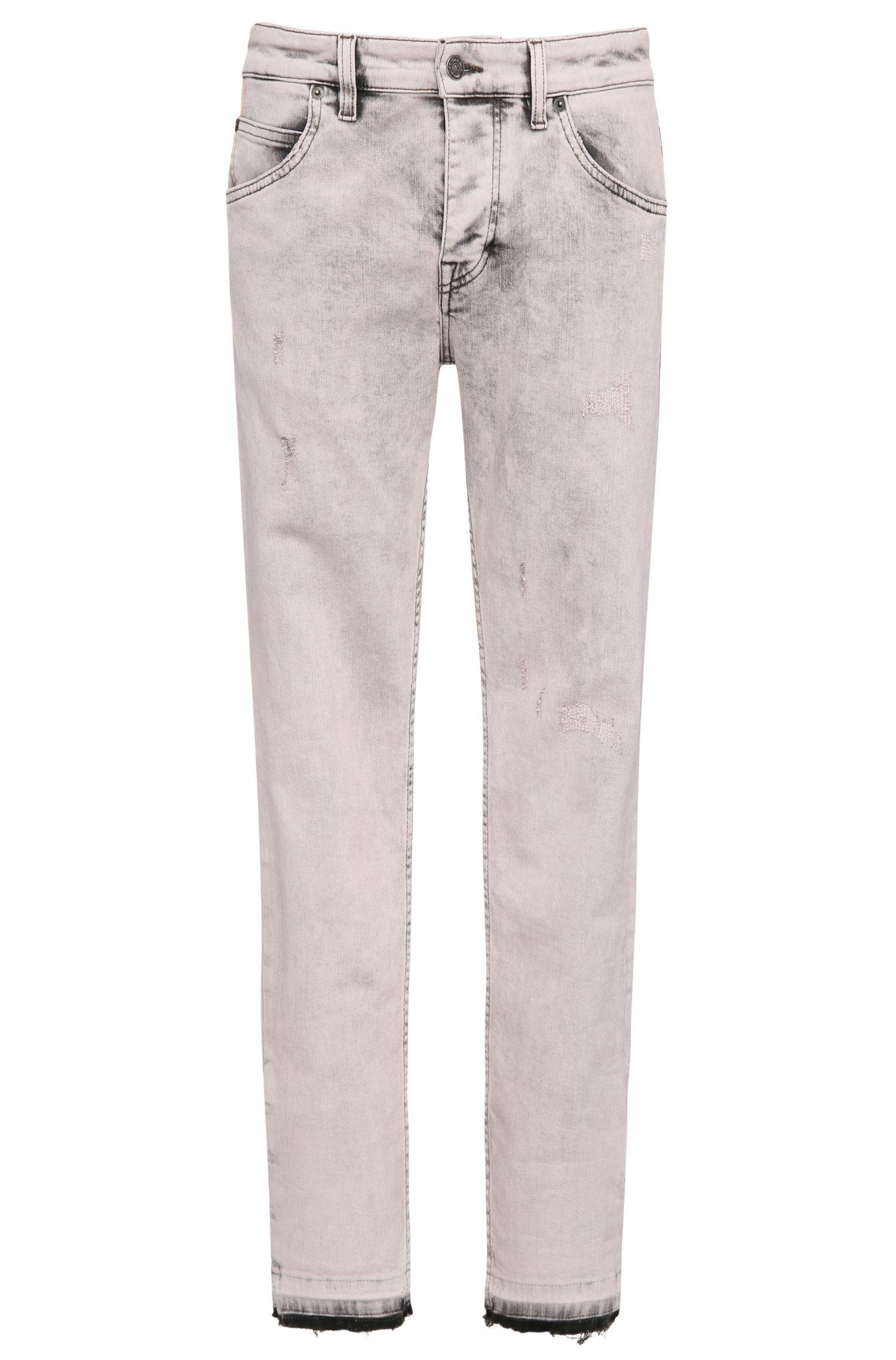 Slim-Fit Jeans aus elastischem Baumwoll-Mix: ´Orange76-Open seam`