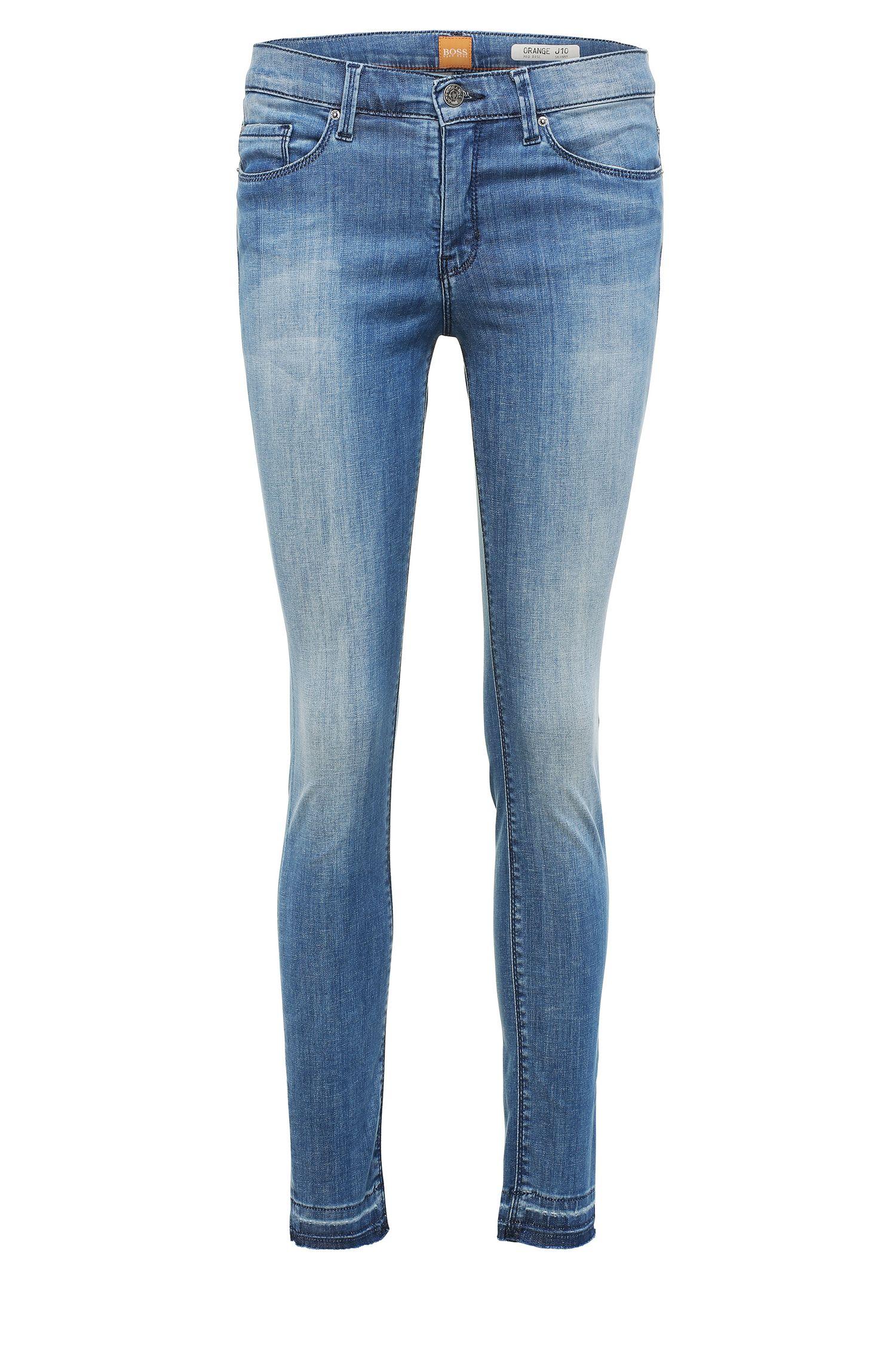 Skinny-fit jeans in a stretchy cotton blend: 'Orange J10 Florida'
