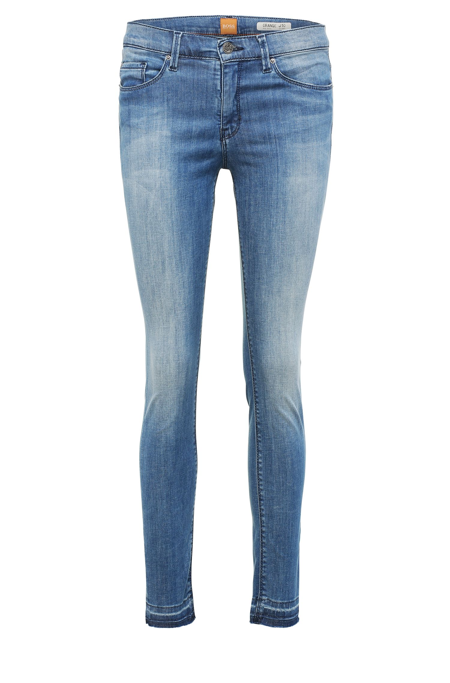 Skinny-fit jeans in a stretchy cotton blend: 'Orange J10 Florida'