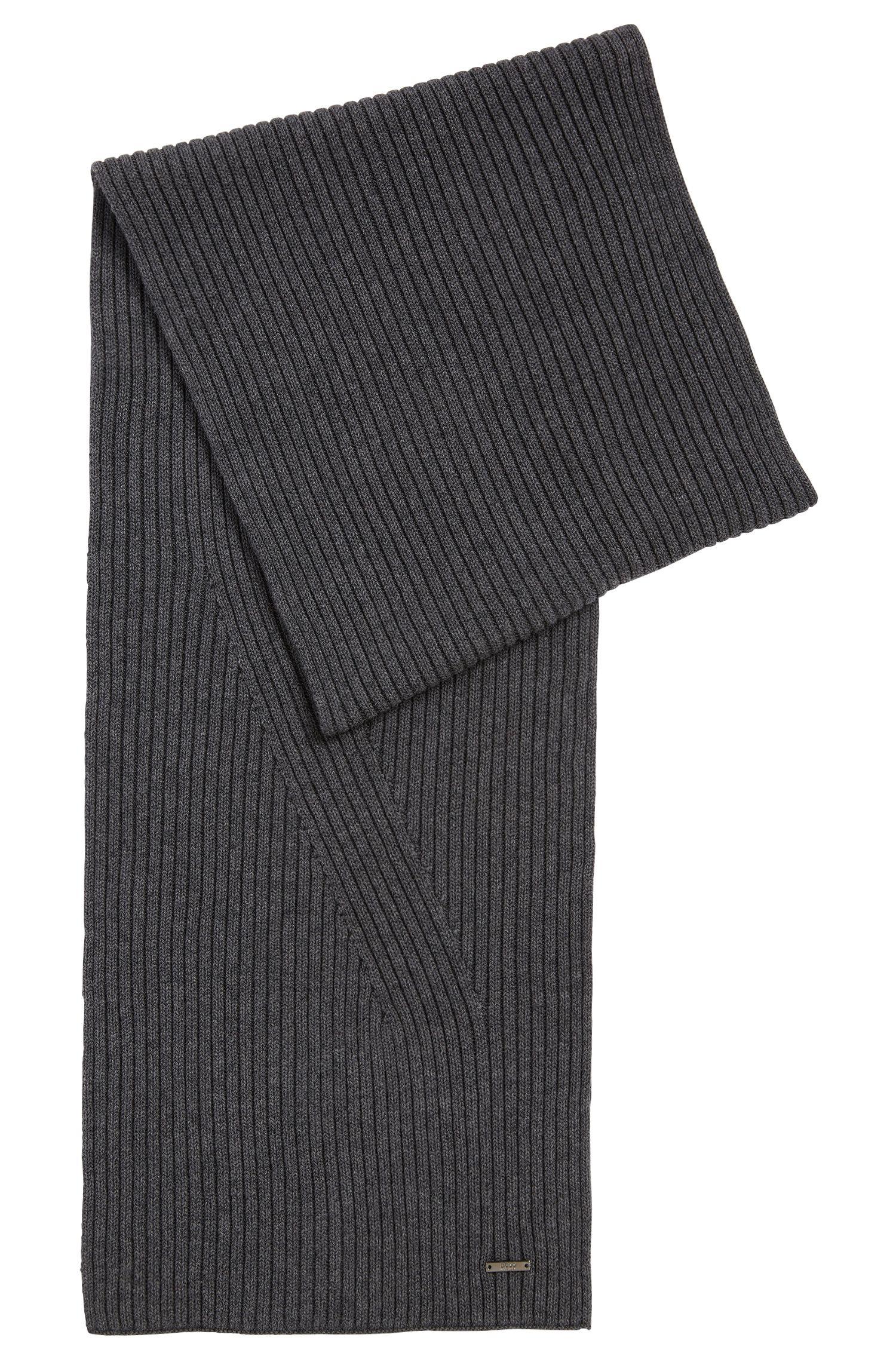 Unifarbener Schal aus Schurwoll-Baumwoll-Mix: 'Icardo'