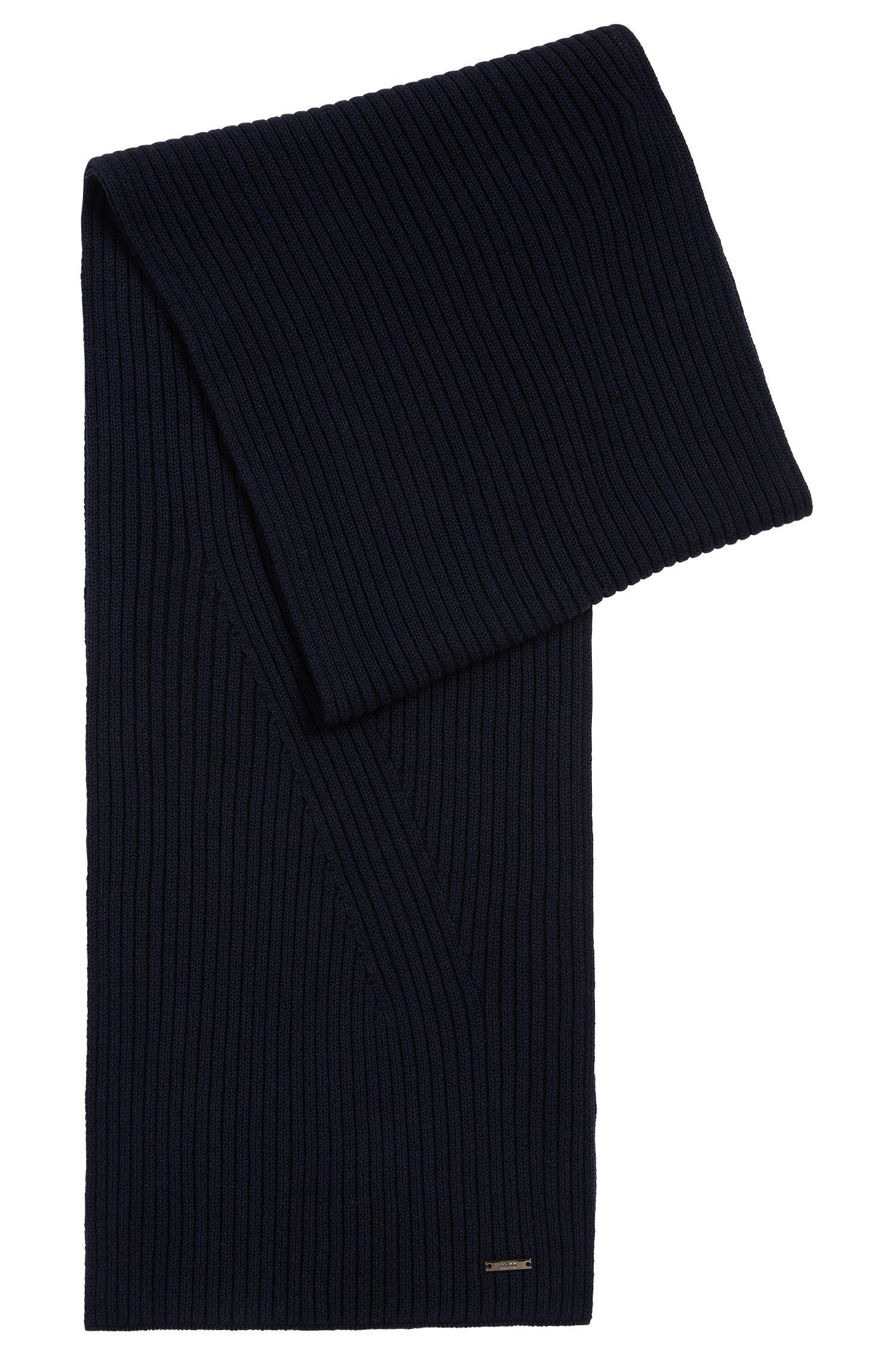 Effen sjaal van een mix van scheerwol en katoen: 'Icardo'