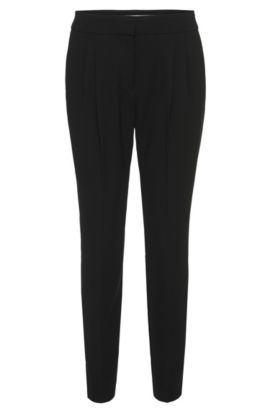 Pantalon à pinces Relaxed Fit : « Acrelana », Noir