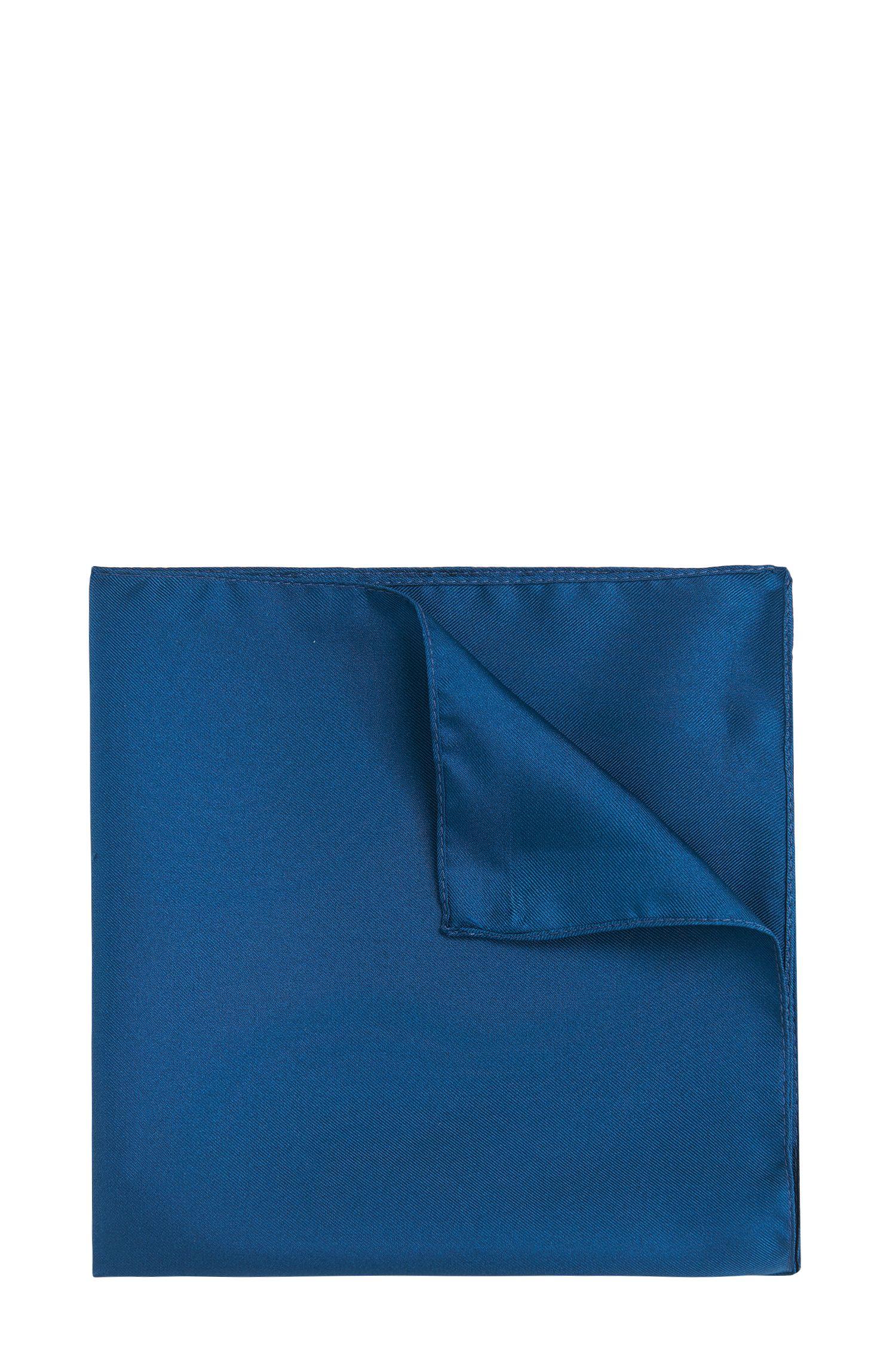 Effen pochet van zijde: 'Pocket sq. 33x33 cm'