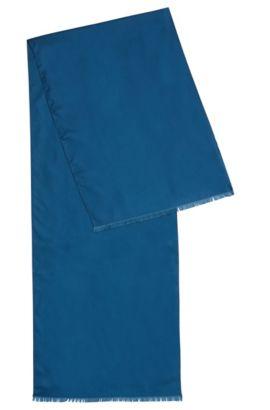Bufanda lisa de seda: 'Scarf 140x35 cm', Turquesa