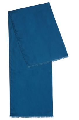 Plain scarf in silk: 'Scarf 140x35 cm', Turquoise