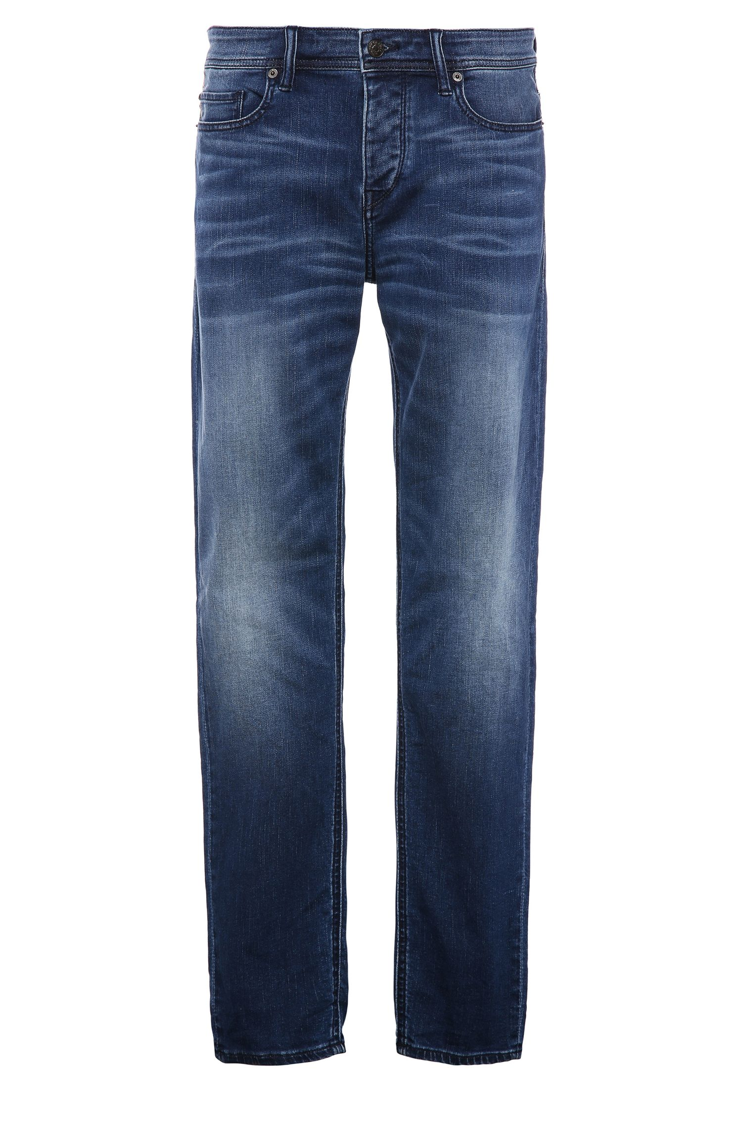 Tapered-Fit Jeans aus elastischem Bauwoll-Mix: ´Orange90`