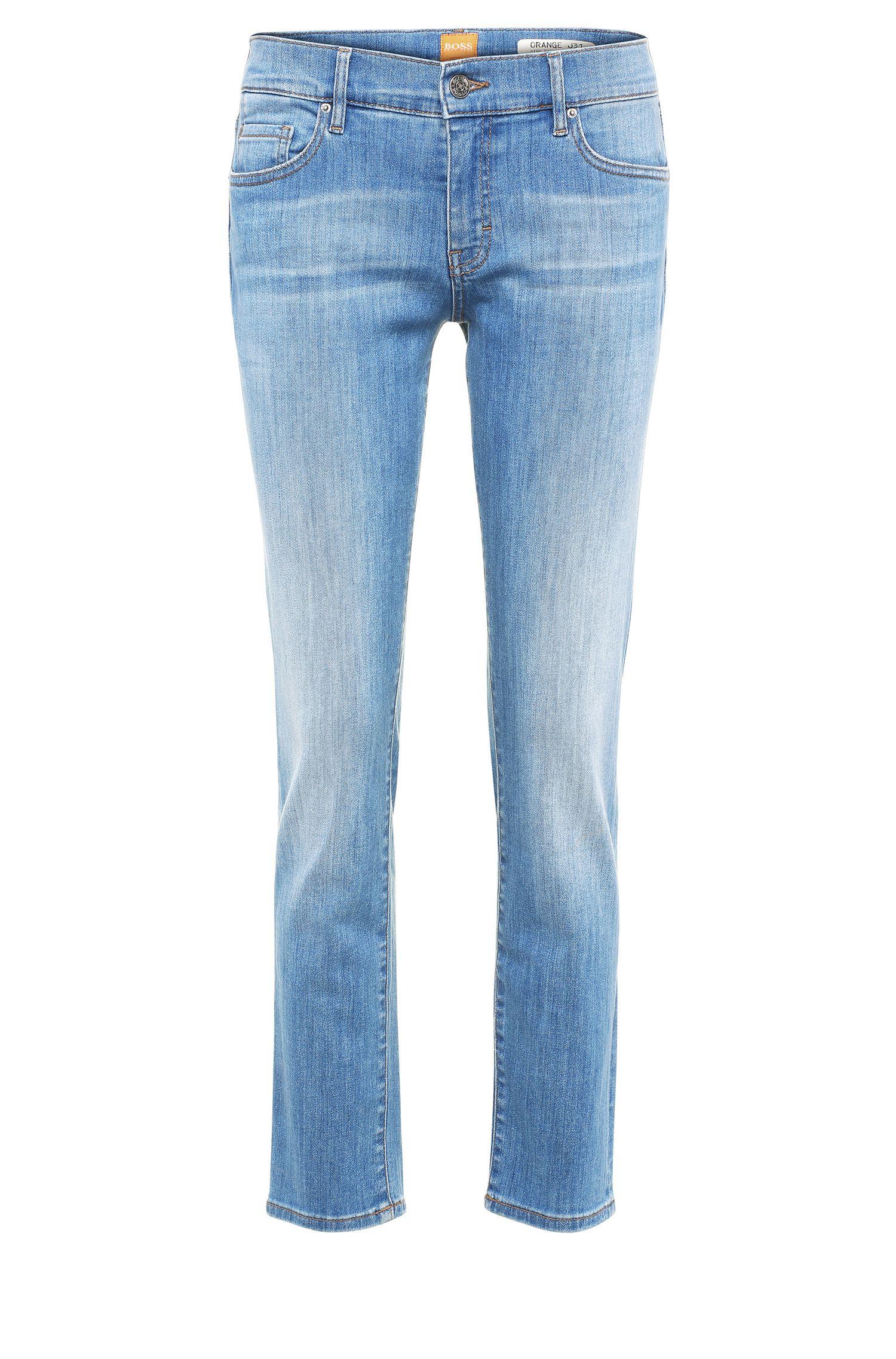 Jeans Regular Fit en coton extensible mélangé, à taille haute: «Orange J31 Odessa»