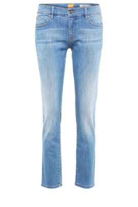 Regular-fit jeans in a stretchy cotton blend with a high waist: 'Orange J31 Odessa', Blue