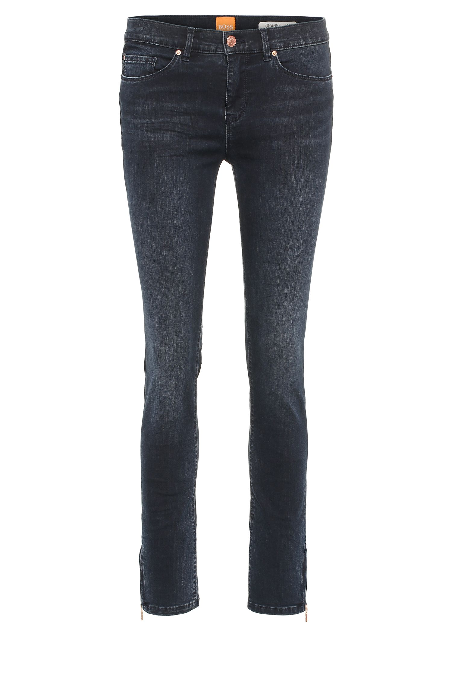 Skinny-fit jeans in a stretchy cotton blend: 'Orange J10 Irvine'