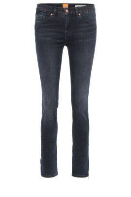Skinny-fit jeans in a stretchy cotton blend: 'Orange J10 Irvine', Dark Blue