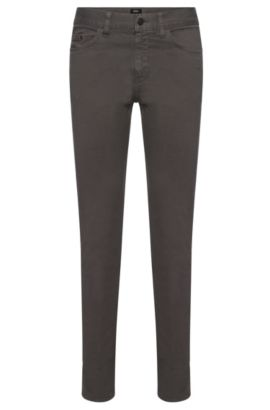 Jeans Slim Fit en coton stretch : « Delaware4-20 », Gris