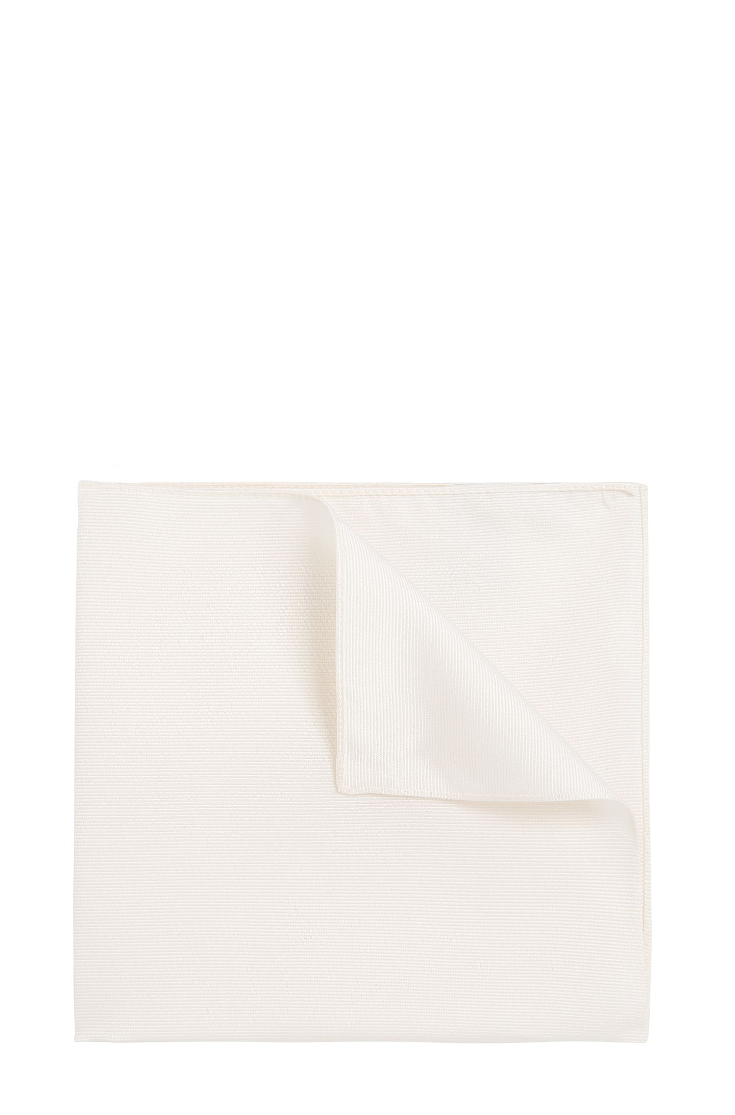 Plain pocket square in silk: 'Pocket sq. 33x33 cm'