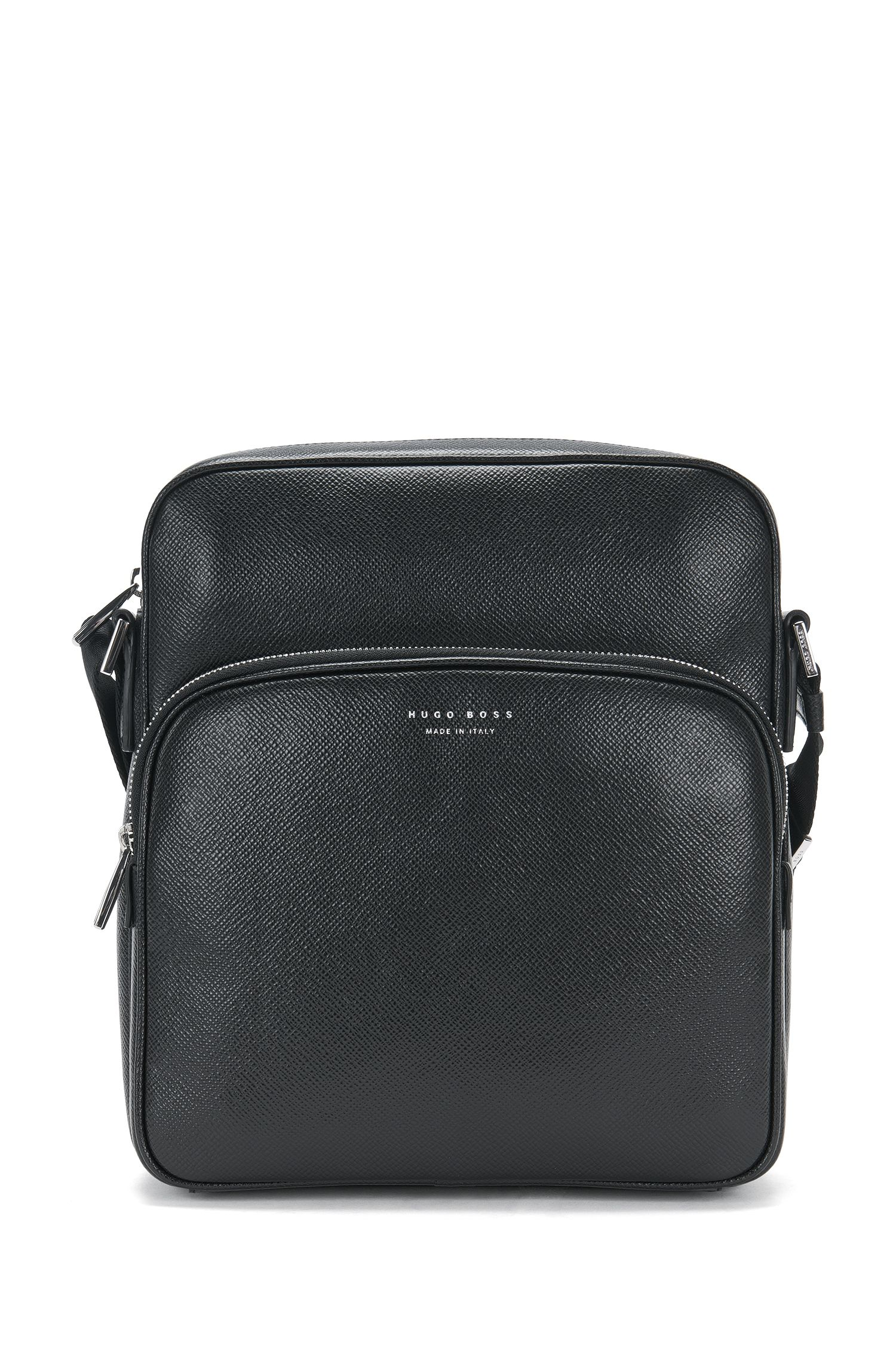 Bolso bandolera de tamaño pequeño en piel: 'Signature_Camera bag'