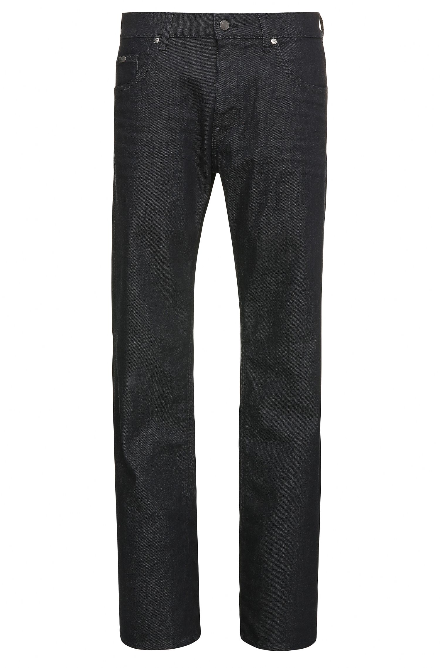 Regular-fit jeans in textured stretch cotton: 'C-MAINE1'