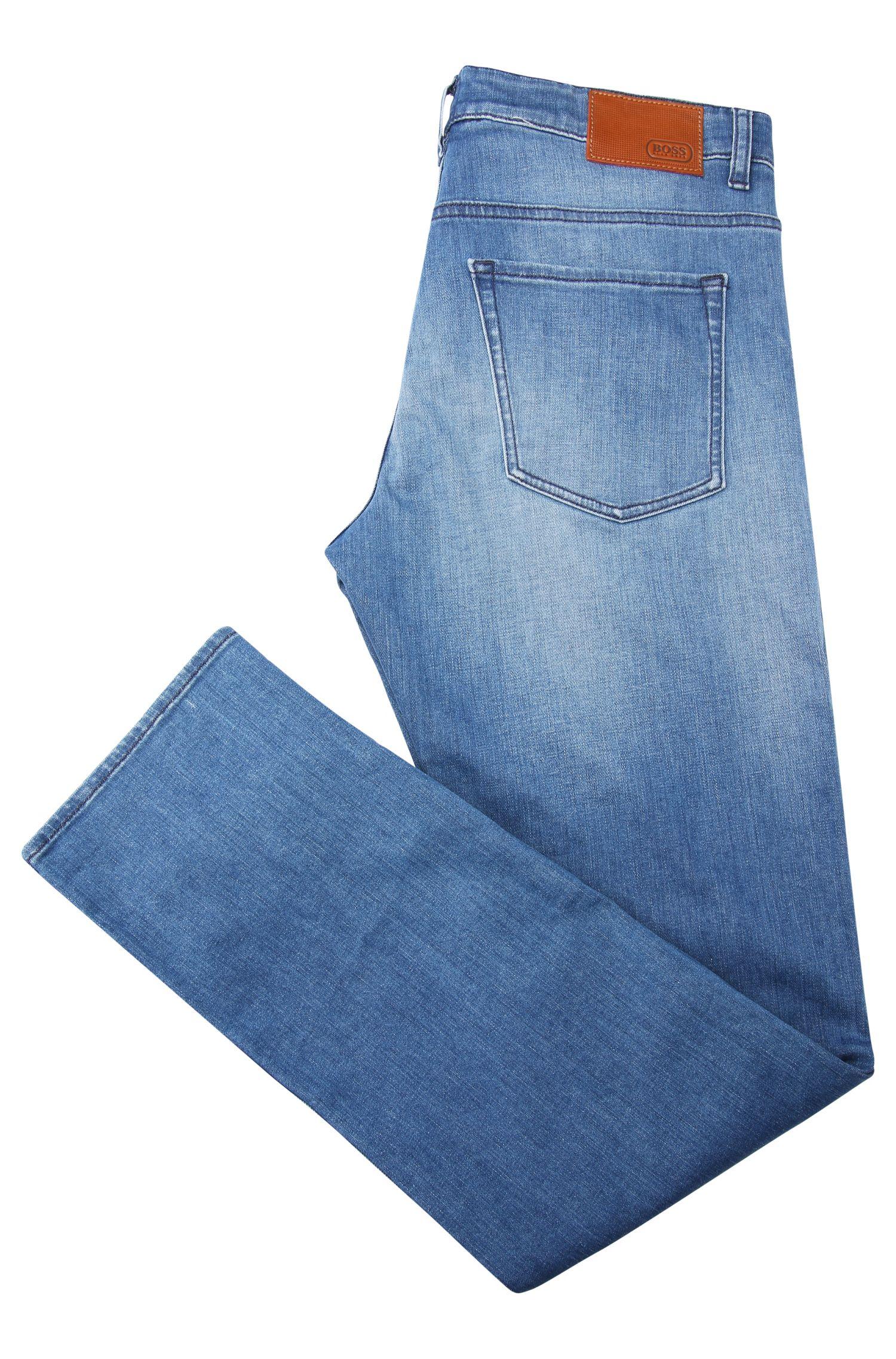 Vaqueros slim fit en algodón elástico con lavado: 'C-DELAWARE1', Azul