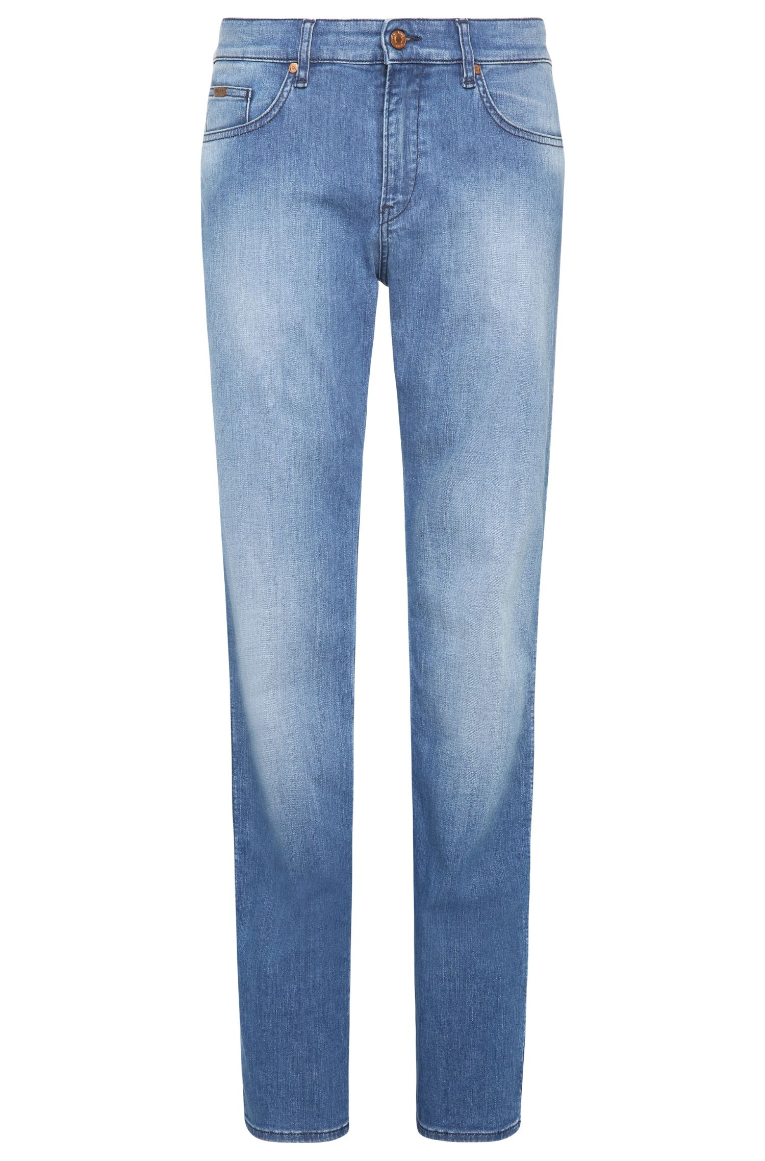 Slim-fit jeans in washed stretch cotton: 'C-DELAWARE1'