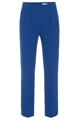 Relaxed-fit trousers with waist pleats: 'Tarima', Blue
