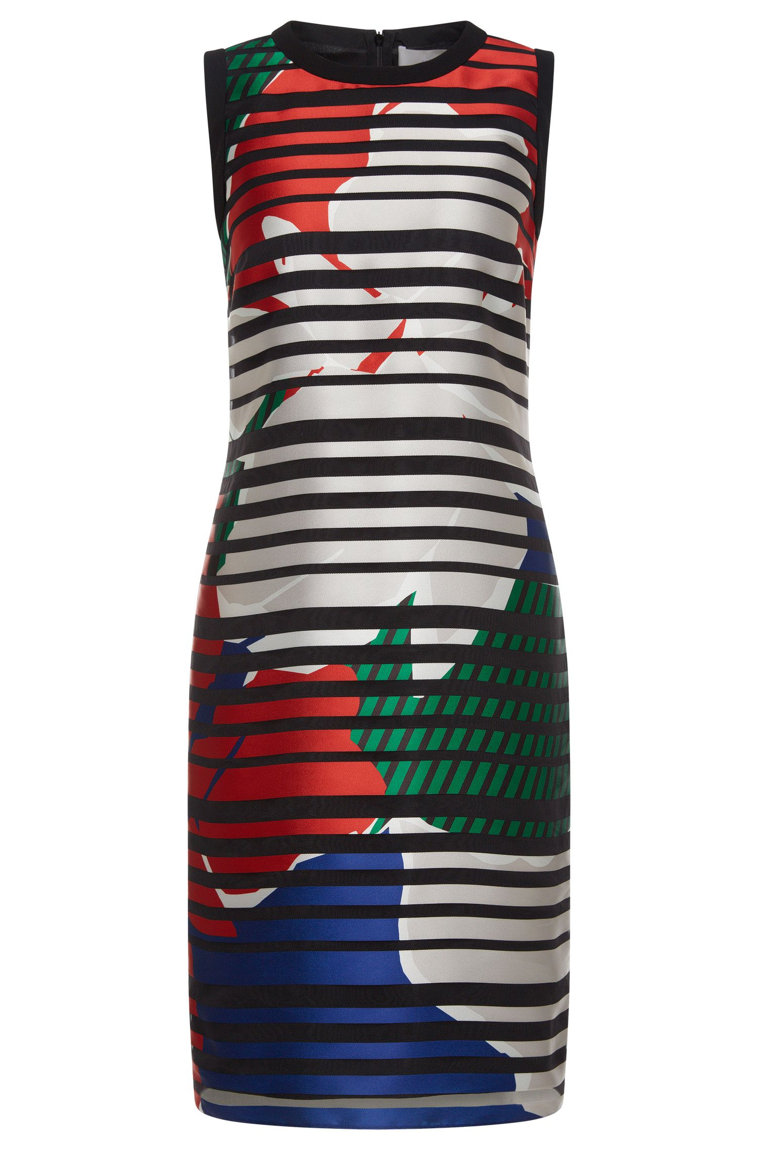 Gemustertes Kleid aus Material-Mix mit Seide: 'Danyna'