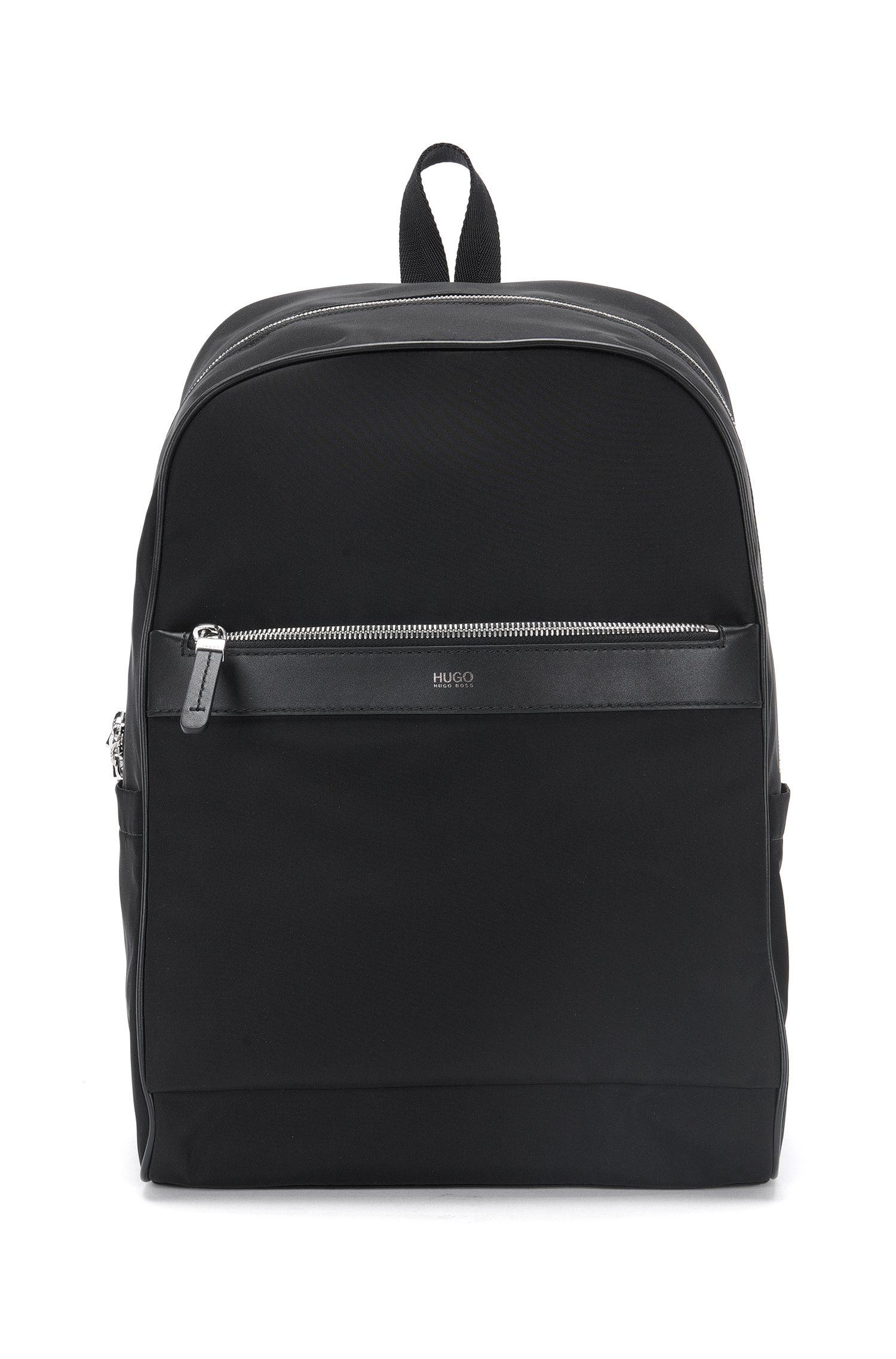 Rucksack im Zip-Around-Design mit Leder-Details: 'Digital L_Backp S17'