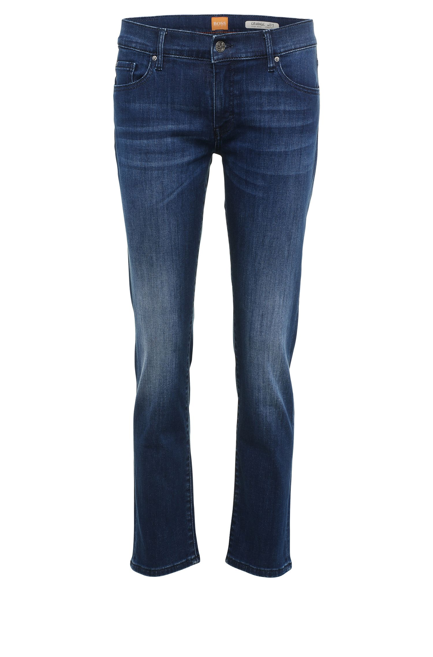 Jeans regular fit in misto cotone elasticizzato con cintura alta: 'Orange J31 Odessa'