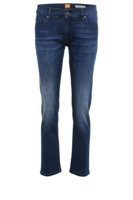 Jeans regular fit in misto cotone elasticizzato con cintura alta: 'Orange J31 Odessa', Blu scuro