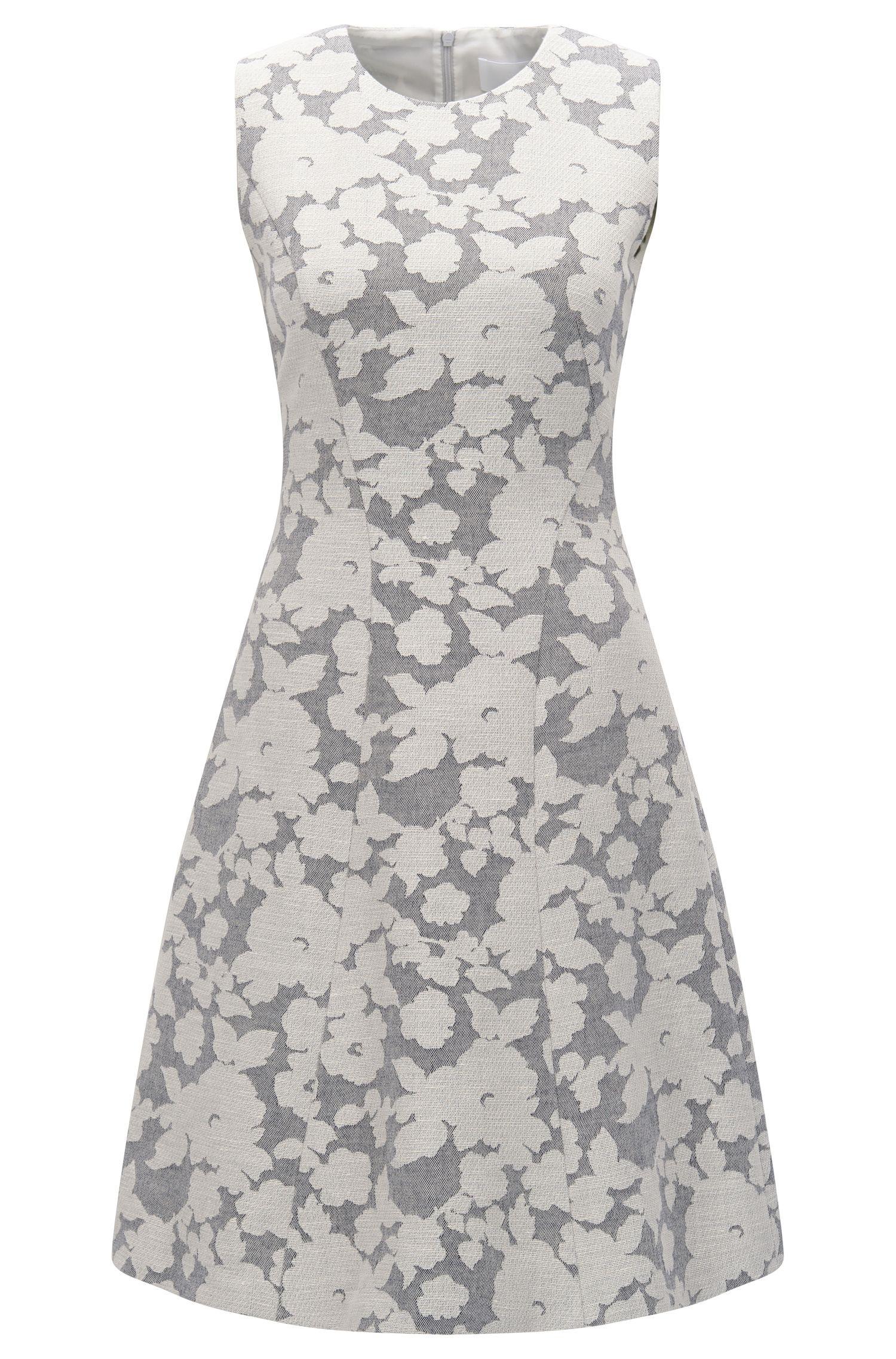 Gemustertes Kleid aus Baumwoll-Mix mit Leinen: 'Hellery'