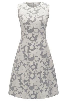 Gemustertes Kleid aus Baumwoll-Mix mit Leinen: 'Hellery', Gemustert