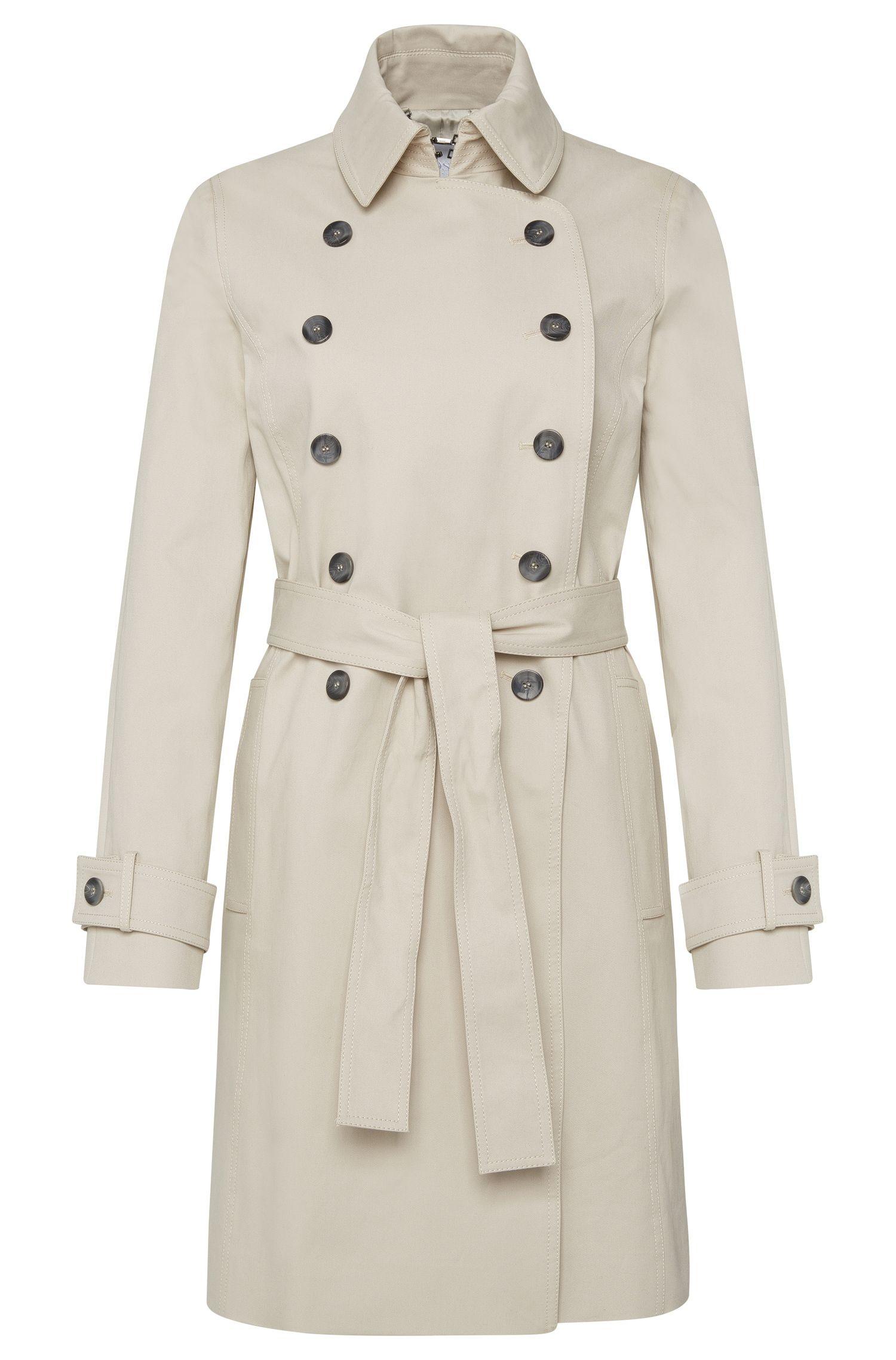 Abrigo en algodón elástico con tapeta de botones doble:  'Cirala'