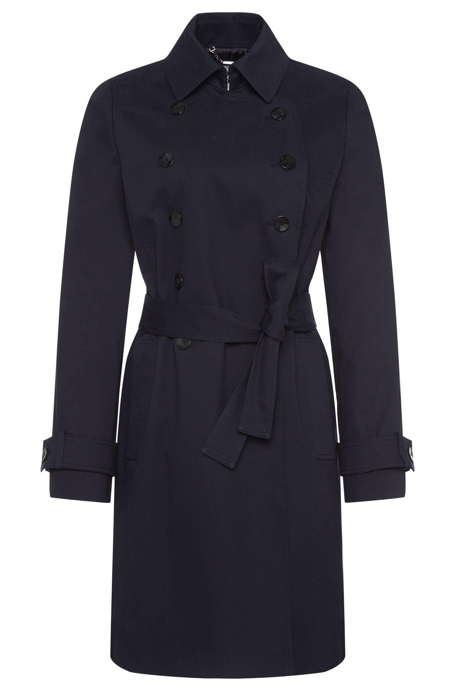 Manteau en coton stretch à patte de boutonnage croisée: «Cirala»