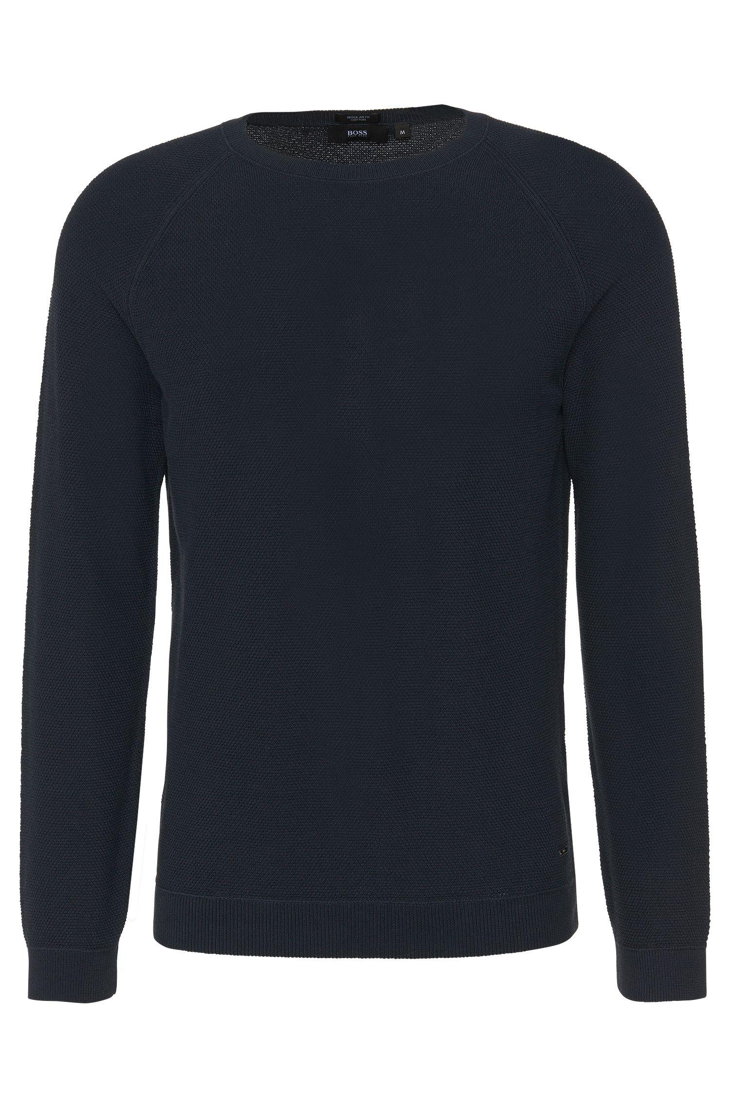 Unifarbener Regular-Fit Pullover aus Baumwolle: 'Ilian'