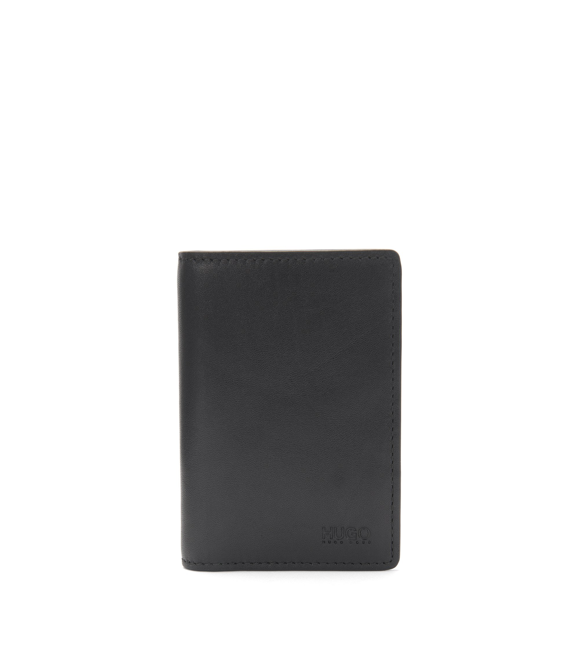Large leather card case: 'Subway_Bifold', Black