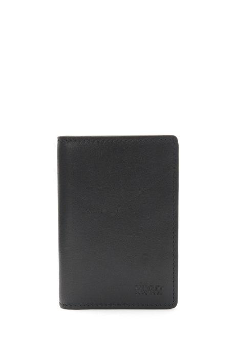 Large leather card case: 'Subway_Bifold', Black
