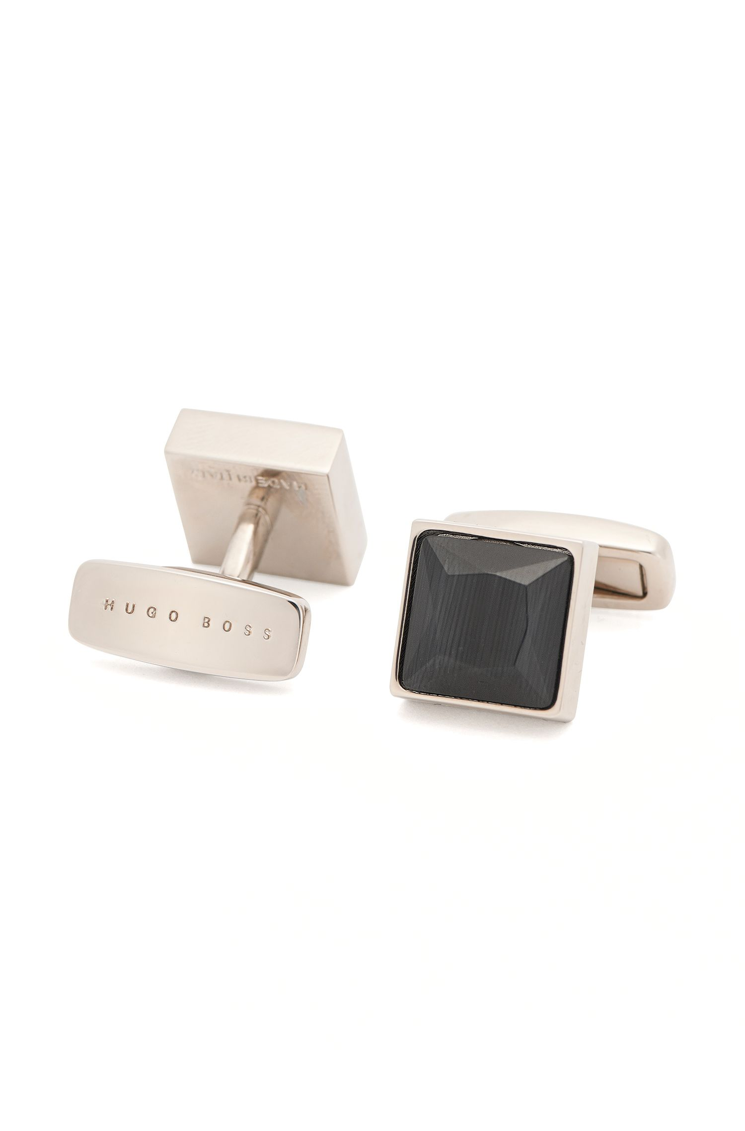 Square Tailored cufflinks in brass: 'T-Vince'