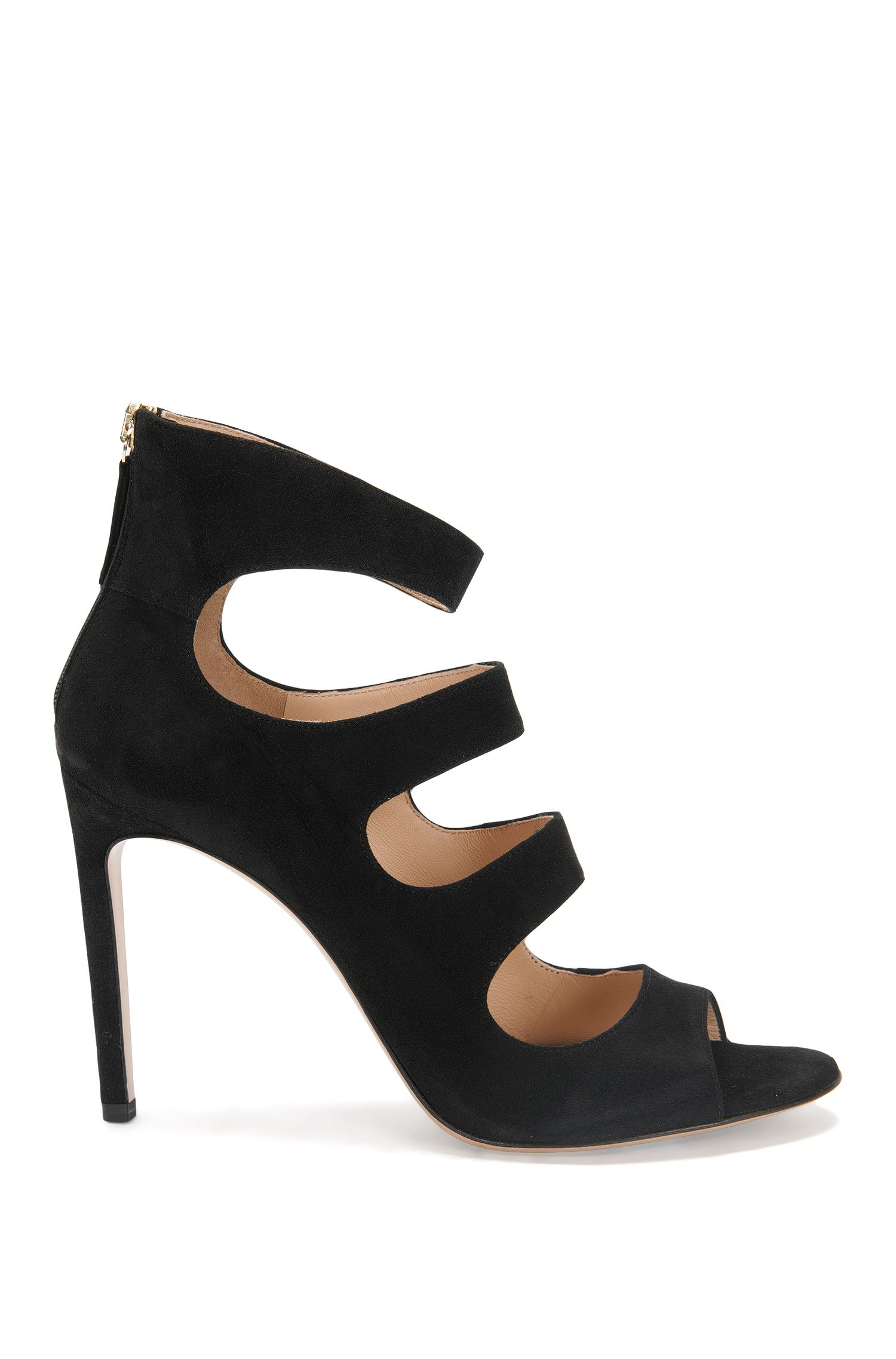 Suede high heels: 'Daisy'
