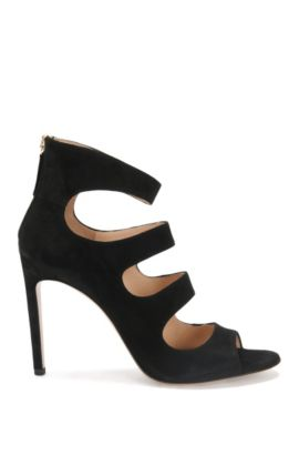 Suede high heels: 'Daisy', Black
