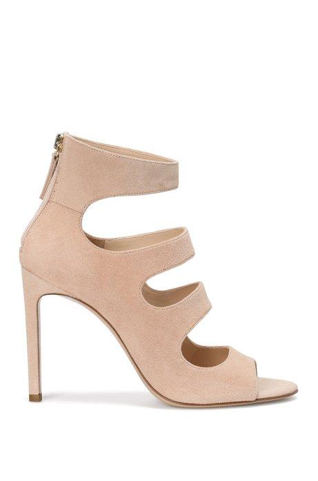 Suede high heels: 'Daisy', Light Beige