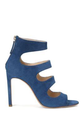 Suede high heels: 'Daisy', Dark Blue