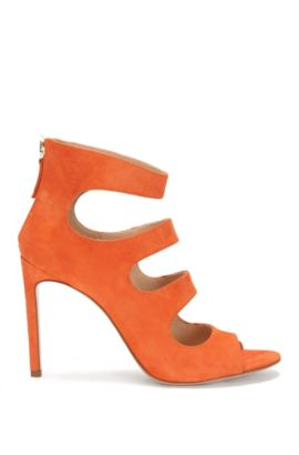Suede high heels: 'Daisy', Orange
