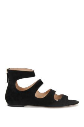 Sandals in suede: 'Dalia', Black