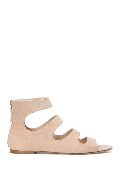 Sandals in suede: 'Dalia', Light Beige