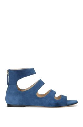 Sandals in suede: 'Dalia', Dark Blue