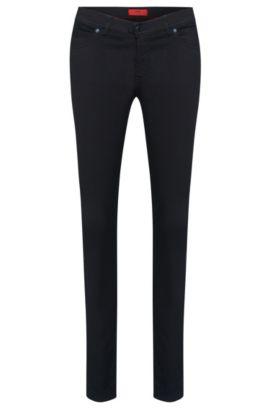 Jeans Super Skinny Fit en coton mélangé extensible: «Georgina», Bleu foncé