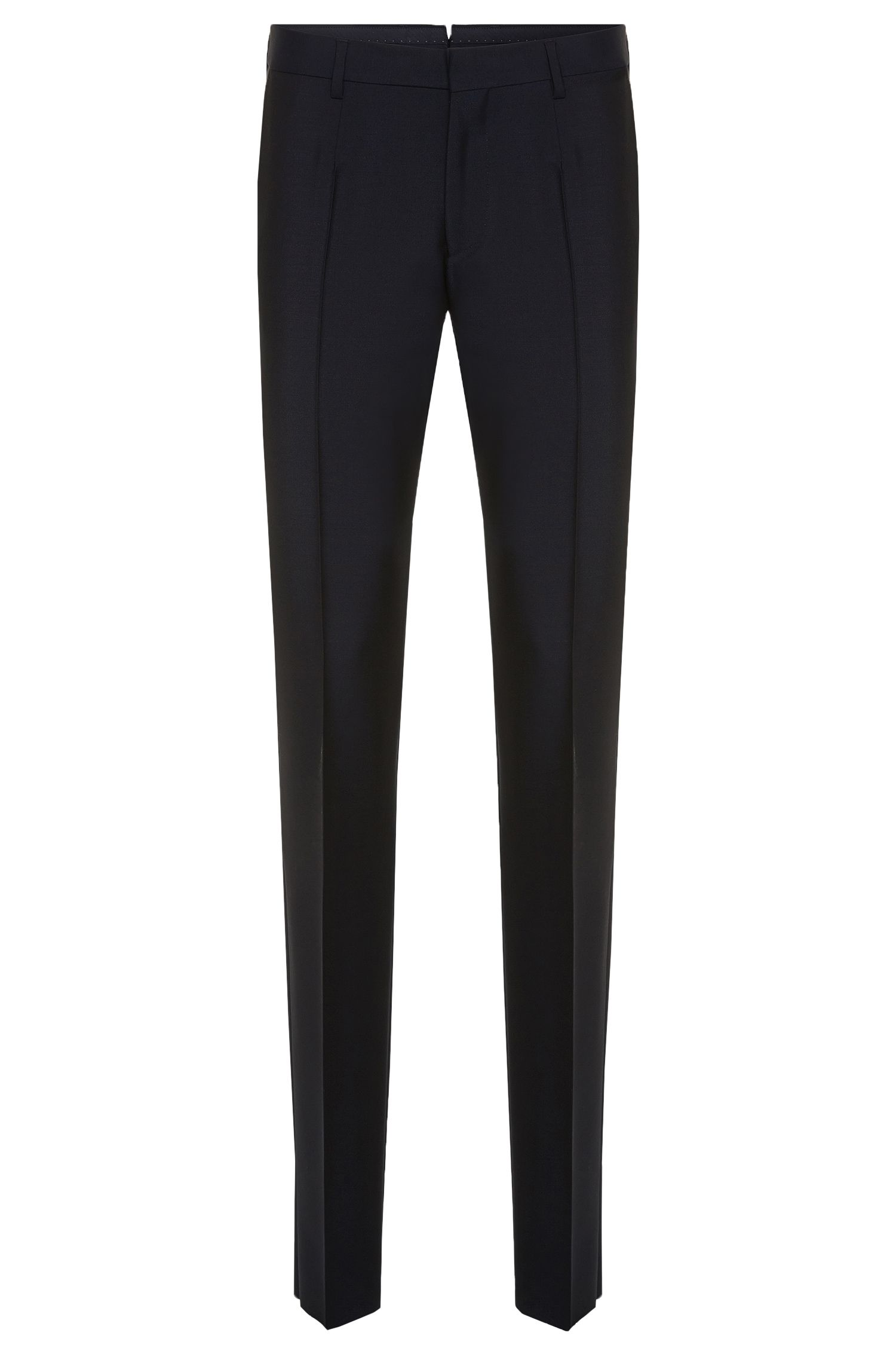Slim-fit Tailored trousers in a new wool blend with mohair: 'T-Gavril'